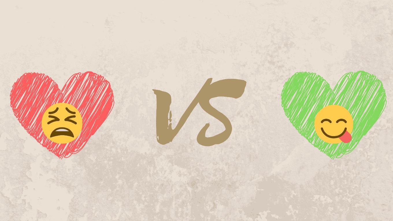 amor romántico vs amor saludable