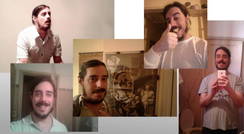 fotos de mi primer perfil de Tinder.